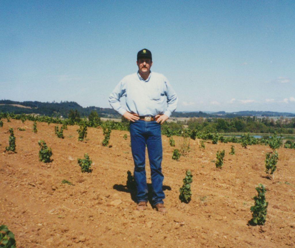 Kyle in the vineyard - 1991