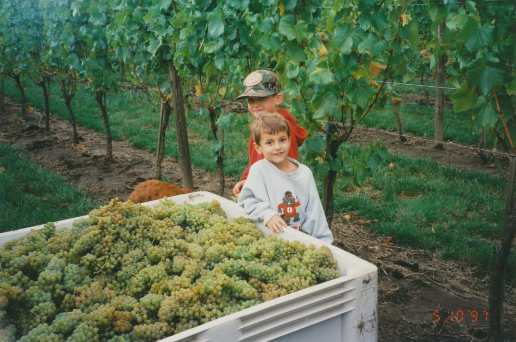 Brayden and Parker - harvest 1997